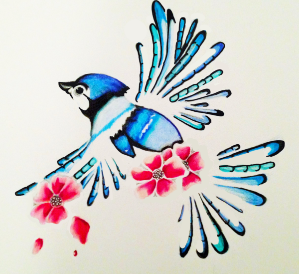 Bird Illustration done for a tattoo commission